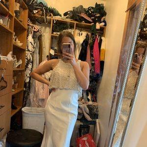 Beautiful white satin dress